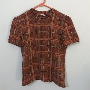Zara Mock Neck Shirt